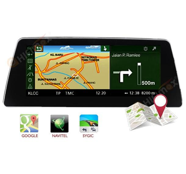 bmw 5 series andriod navigation support google map,waze,sygic etc