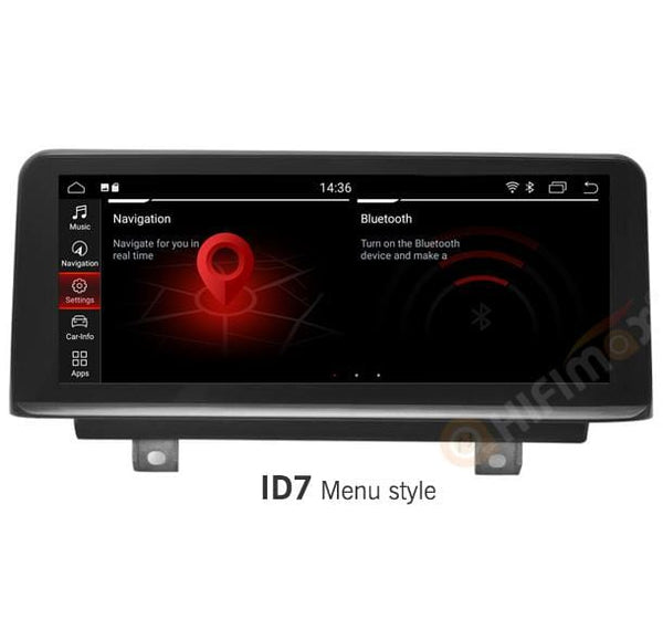 bmw 2 series navigation with id7 menu