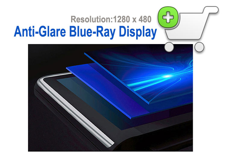 Anti-Glare Blue-Ray Display 1280x480P for BMW android screen