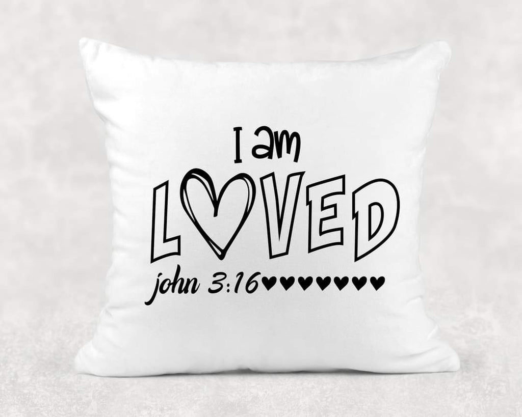 I am loved pillow