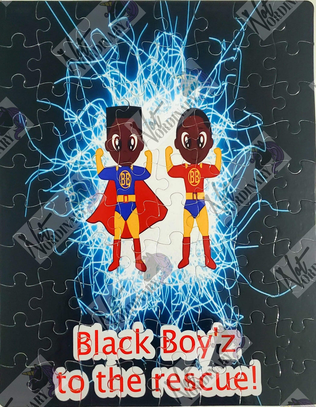 Black Boys Super heroes puzzle