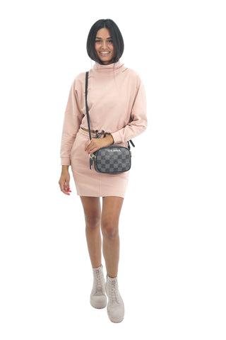 LADIES TERRY TOP&SKIRT SUIT STM201730431 PINK