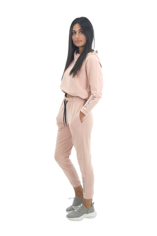 LADIES TERRY TOP&PANTS SUIT STM2017305 PINK