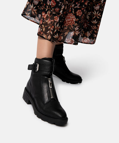 LURRA BLACK LEATHER BOOTIES BY DOLCE VITA