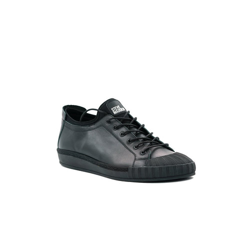 M-REED BLACK LEATHER SNEAKERS