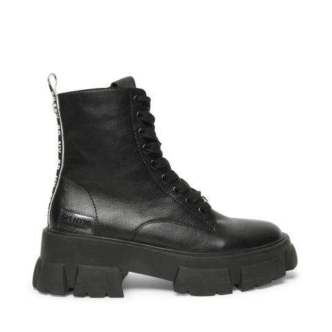 TANKER BLACK LEATHER BOOTS