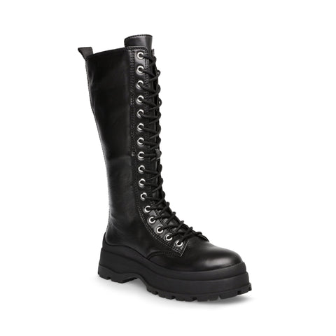 BEXLEY BLACK LEATHER CHUNKY BOOTS