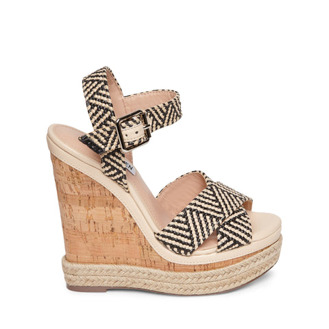 MAVEN BLACK/TAN SANDALS