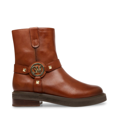 MOTTAR COGNAC LEATHER BOOTIES