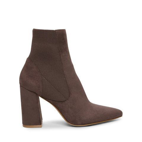 REESA GREY HEELED BOOTIES