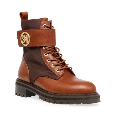 TRACKSTER COGNAC LEATHER BOOTS