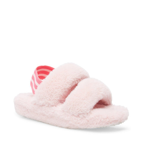 JCLOUD PINK FLUFFY SLIDERS