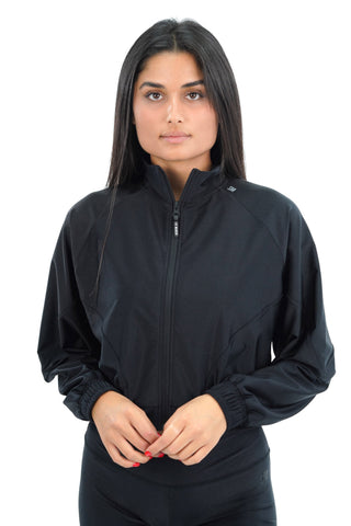 SHINY OVERSIZED BOMBER  STM2017606 BLACK