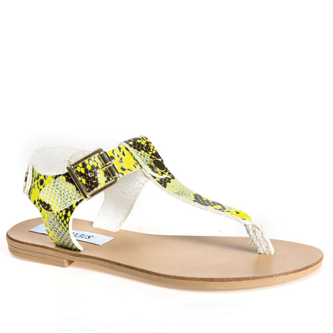 TALLY YELLOW NEON SANDALS