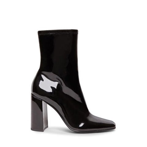 FULTON BLACK PATENT BOOTIES