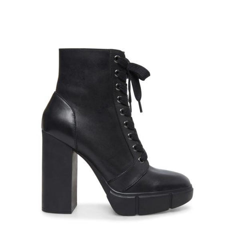 REGION BLACK LEATHER BOOTIES