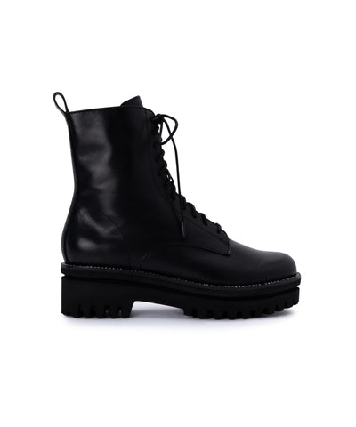 PRYM BLACK LEATHER BOOTS BY DOLCE VITA