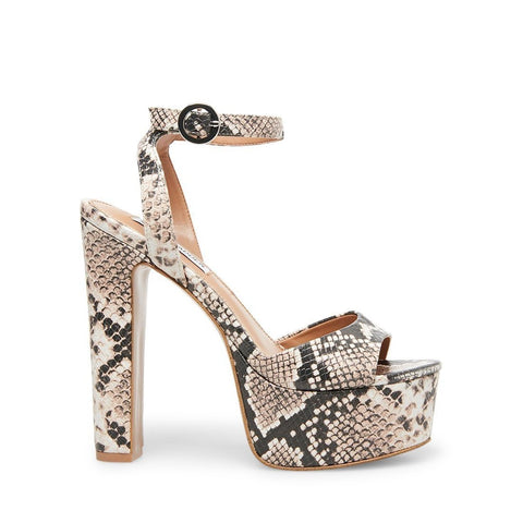 SKYLA SNAKE HIGH HEEL SANDALS