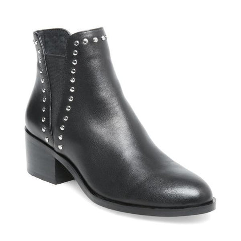 CADE BLACK LEATHER BOOTIES