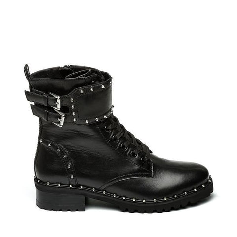 BIRDY BLACK LEATHER BOOTS