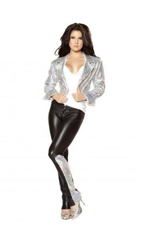 2979 Black/Silver (Pants) - Roma Costume Pants,Blowout Sale