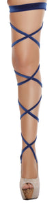 "3232 - 100"" Velvet Leg Strap with Attached Garter"