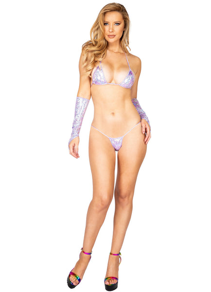 3898 - 1pc Iridescent Shimmer Micro Bottoms