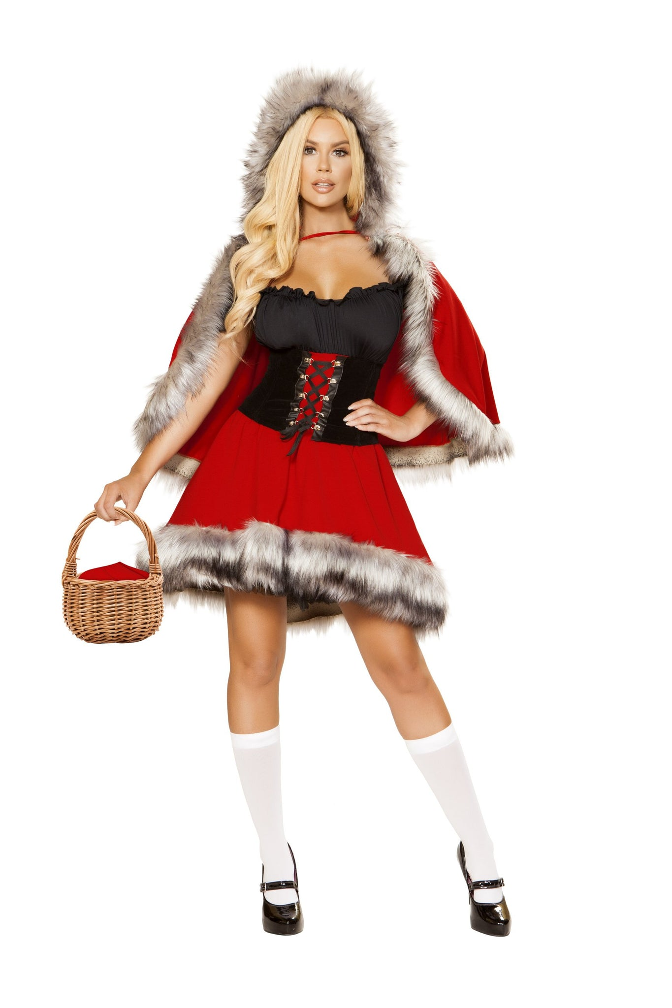 4854 - Roma Costume 3pc The Red Chapped Diva Little Red Riding Hood Disney