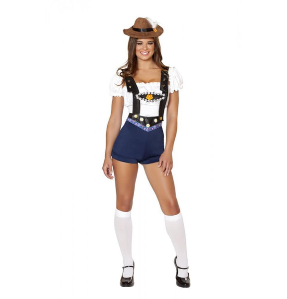 4535 4pc Bodacious Beer Babe Costume - Roma Costume Costumes,2014 Costumes,New Products - 1
