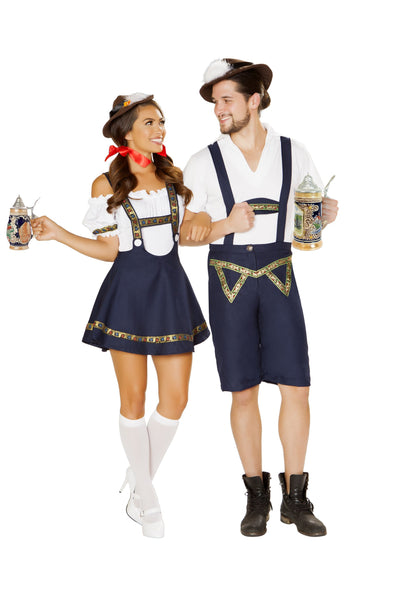 4884 - Roma Costume 3pc Bavarian Beauty Serving Wench Couples Costume