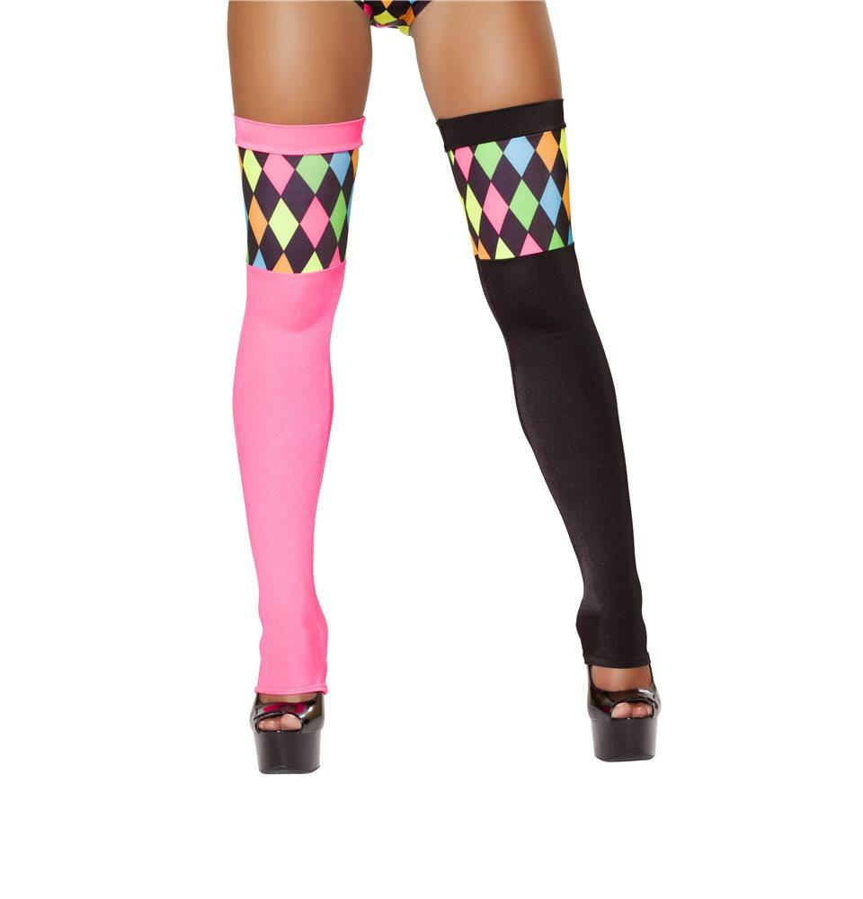 ST4514 Two-Tone Lusty Laughter Stockings - Roma Costume Accessories,New Products,New Arrivals