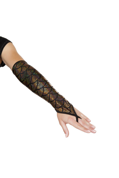 GL105 - Pair of Fingerless Elbow Length Mermaid Gloves