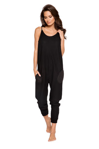 LI294 - Cozy & Comfy Pajama Jumpsuit with Pocket Details