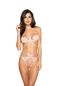 LI322 - Strappy Crotchless Short Set