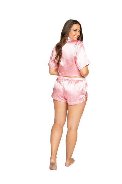 LI349 - LOVE Satin Pajama Set