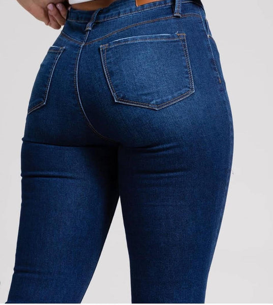 "VAIN DAME presents – YMI ""HIDE YOUR MUFFIN TOP"" Skinny Jeans (DARK BLUE02)"