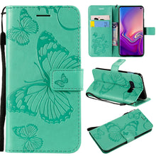 Load image into Gallery viewer, 3D Embossed Butterfly Wallet Phone Case For Samsung S10e