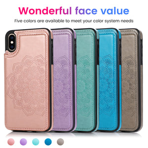 2020 New Style Luxury Wallet Cover For iPhone X