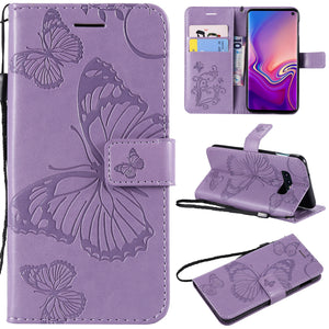 3D Embossed Butterfly Wallet Phone Case For Samsung S10e