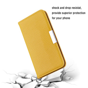 2020 Lychee Pattern Leather Wallet Phone Case for Samsung