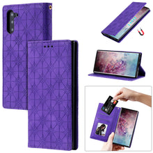 Load image into Gallery viewer, Lucky Flower Embossed Magnetic Flip Wallet Phone Case For Samsung Note10