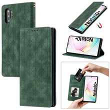 Load image into Gallery viewer, Lucky Flower Embossed Magnetic Flip Wallet Phone Case For Samsung Note10 Plus