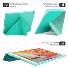 Load image into Gallery viewer, Leather Silicone Soft Back Cover Case For iPad