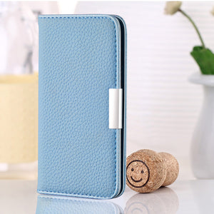 2020 New Lychee Pattern Leather Wallet Phone Case for iPhone XS Max