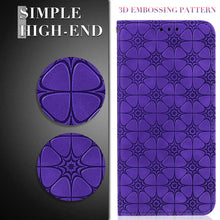 Load image into Gallery viewer, Lucky Flower Embossed Magnetic Flip Wallet Phone Case For Samsung S10