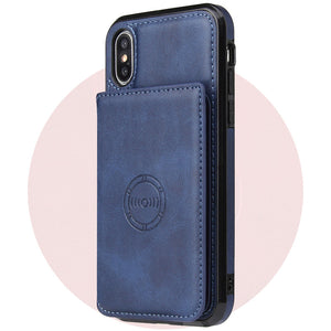 Magnetic Wallet Phone Case For iPhone