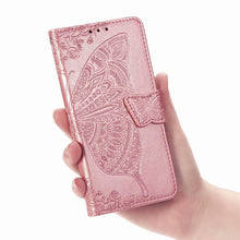 Load image into Gallery viewer, 2020 Luxury Embossed Butterfly Leather Wallet Flip Case for MOTO E6