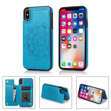 Load image into Gallery viewer, 2020 New Style Luxury Wallet Cover For iPhone X