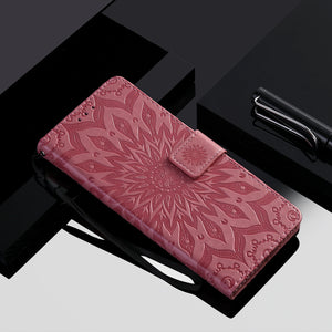 Embossed Sunflower Wallet Phone Case For Samsung S20 Ultra