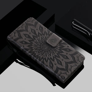 Embossed Sunflower Wallet Phone Case For Samsung S20 Plus